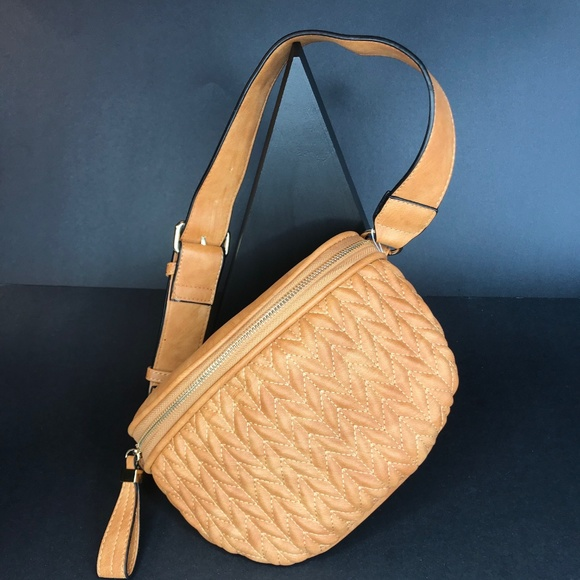 CLOSET REHAB Handbags - Quilted Waist Pack in Cognac
